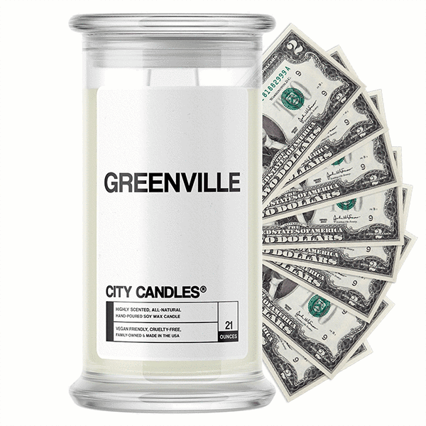 Greenville City Cash Candle - BathBombs.Com