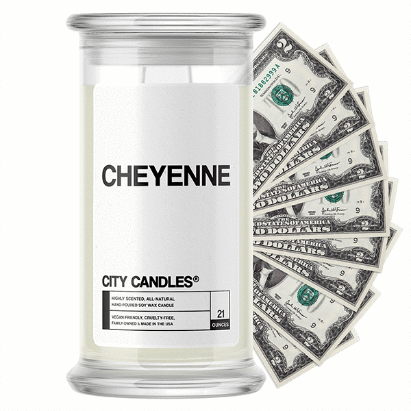 Cheyenne City Cash Candle - BathBombs.Com