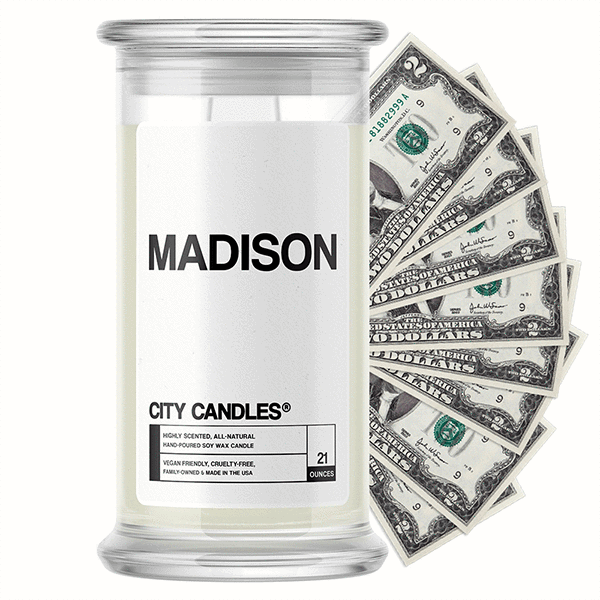 Madison City Cash Candle - BathBombs.Com