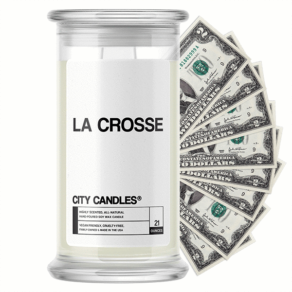 La Crosse City Cash Candle - BathBombs.Com