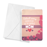 Behind Every Good Kid Is A Great Mom Jewelry Greeting Card - BathBombs.Com