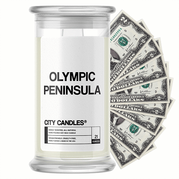 Olympic Peninsula City Cash Candle - BathBombs.Com