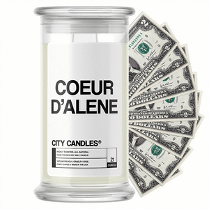 Coeur d'Alene City Cash Candle - BathBombs.Com