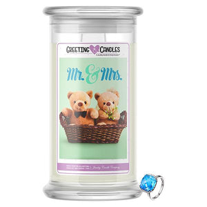 Mr. & Mrs. Jewelry Greeting Candle - BathBombs.Com