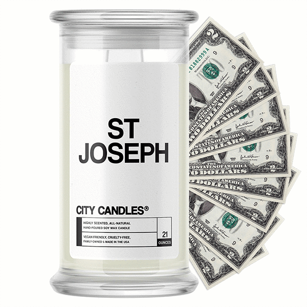 St Joseph City Cash Candle - BathBombs.Com