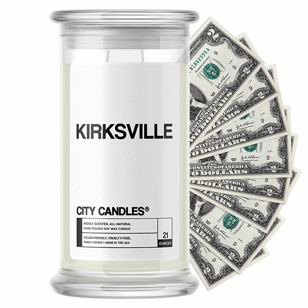 Kirksville City Cash Candle - BathBombs.Com