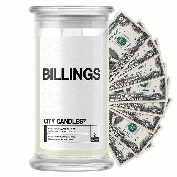Billings City Cash Candle - BathBombs.Com