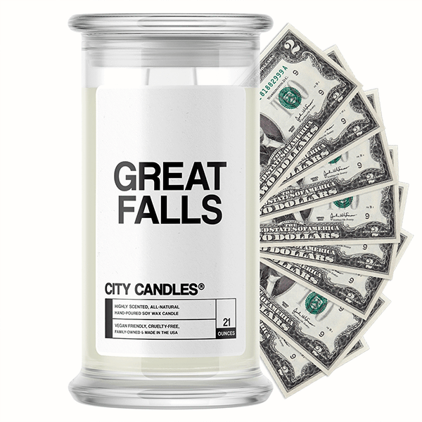 Great Falls City Cash Candle - BathBombs.Com
