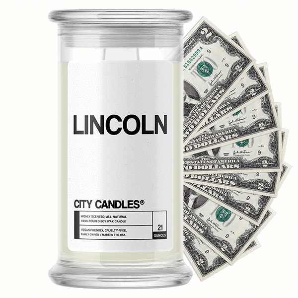 Lincoln City Cash Candle - BathBombs.Com