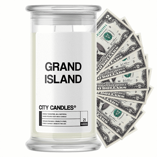 Grand Island City Cash Candle - BathBombs.Com