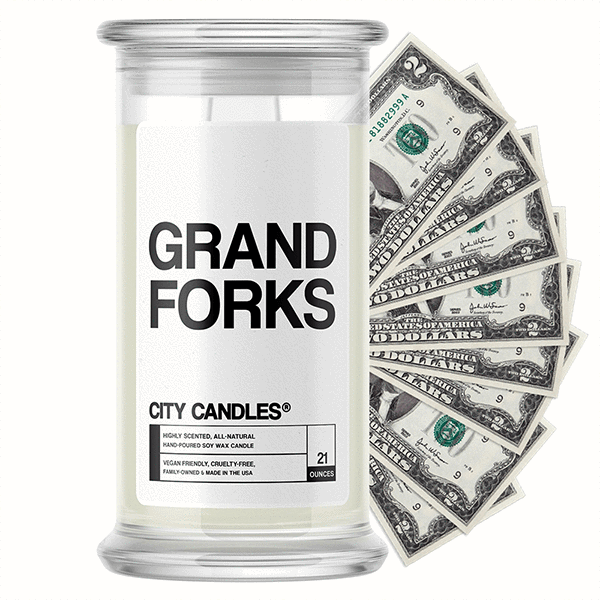 Grand Forks City Cash Candle - BathBombs.Com