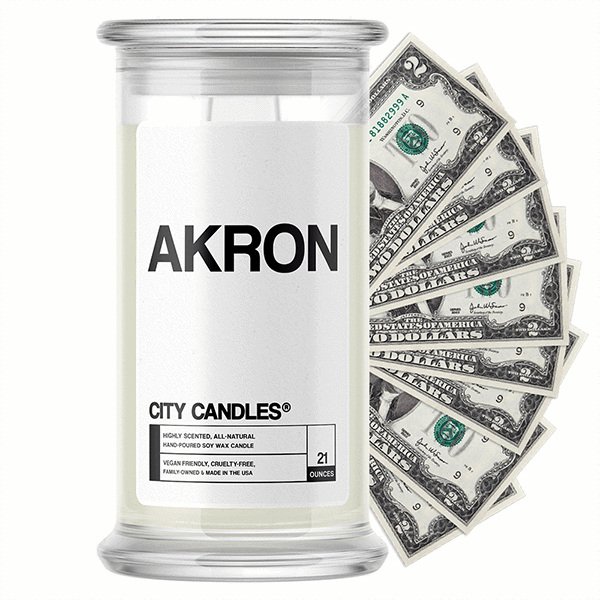 Akron City Cash Candle - BathBombs.Com