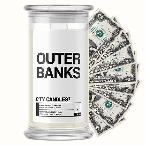 Outer Banks City Cash Candle - BathBombs.Com