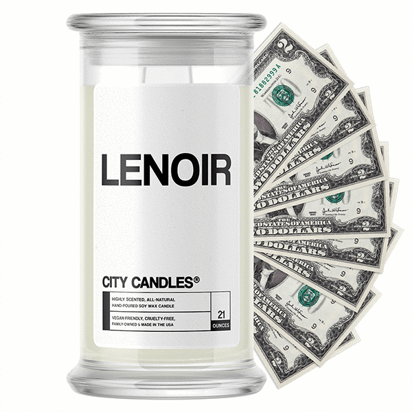 Lenoir City Cash Candle - BathBombs.Com