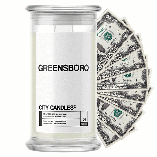 Greensboro City Cash Candle - BathBombs.Com