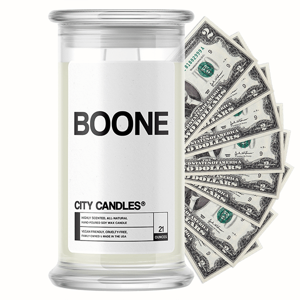 Boone City Cash Candle - BathBombs.Com