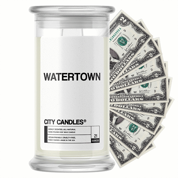 Watertown City Cash Candle - BathBombs.Com
