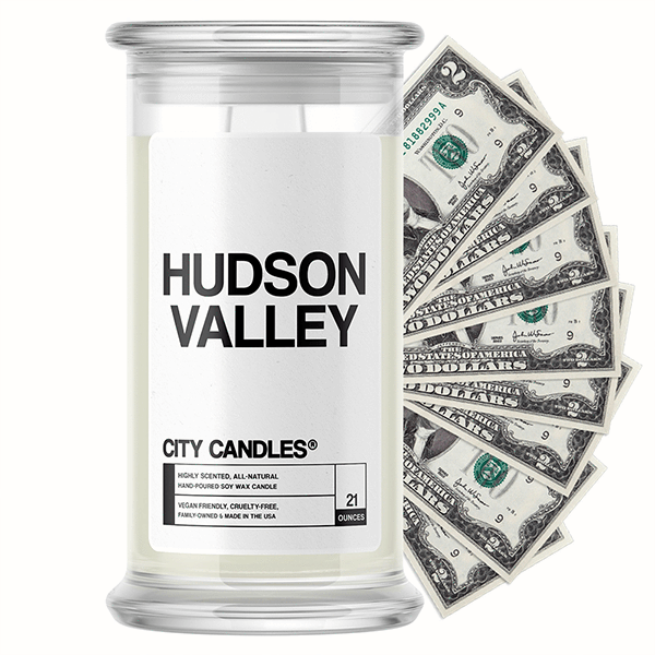 Hudson Valley City Cash Candle - BathBombs.Com
