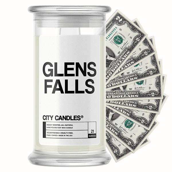 Glens Falls City Cash Candle - BathBombs.Com