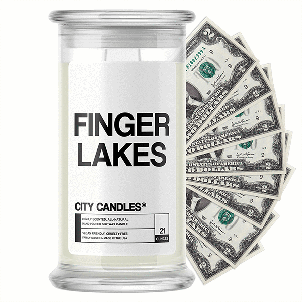 Finger Lakes City Cash Candle - BathBombs.Com