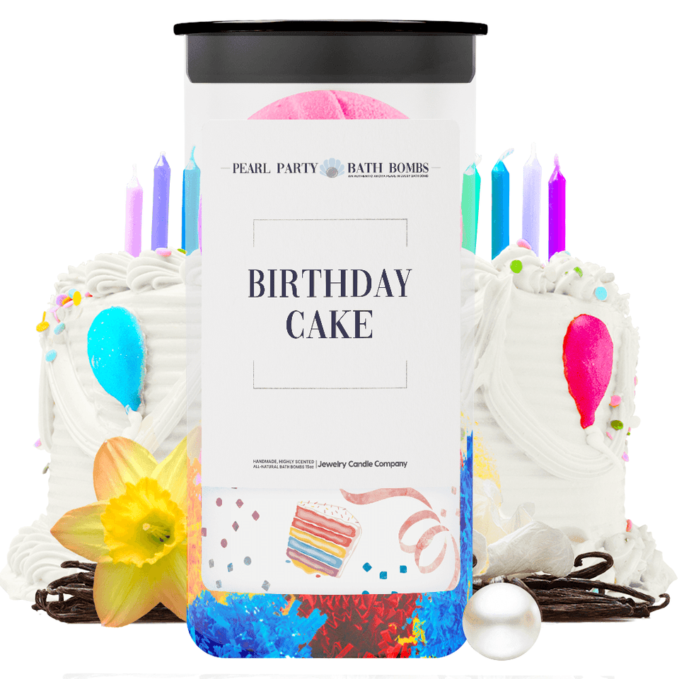Birthday Cake Pearl Party Bath Bombs Twin Pack - BathBombs.Com
