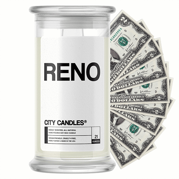 Reno City Cash Candle - BathBombs.Com