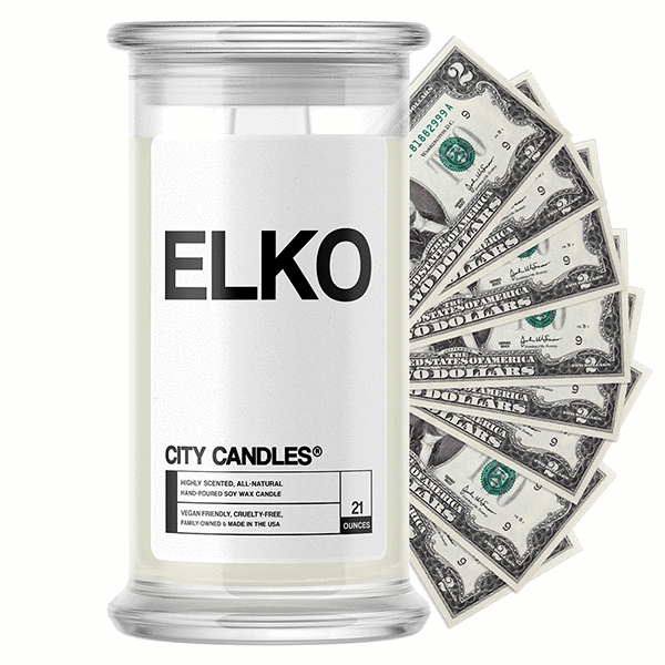 Elko City Cash Candle - BathBombs.Com