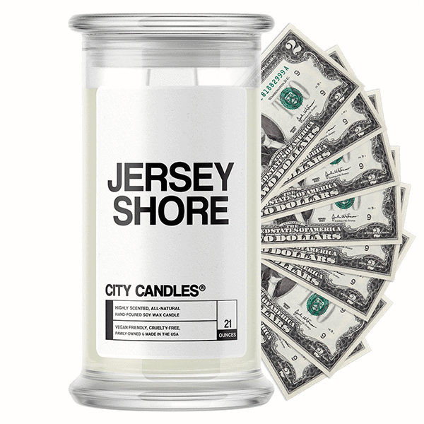 Jersey Shore City Cash Candle - BathBombs.Com