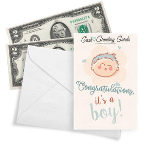 Congratulations, It's A Boy! Cash Greeting Card - BathBombs.Com