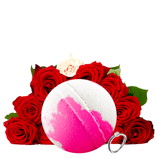 Fresh Cut Roses Ring Bath Bomb - BathBombs.Com