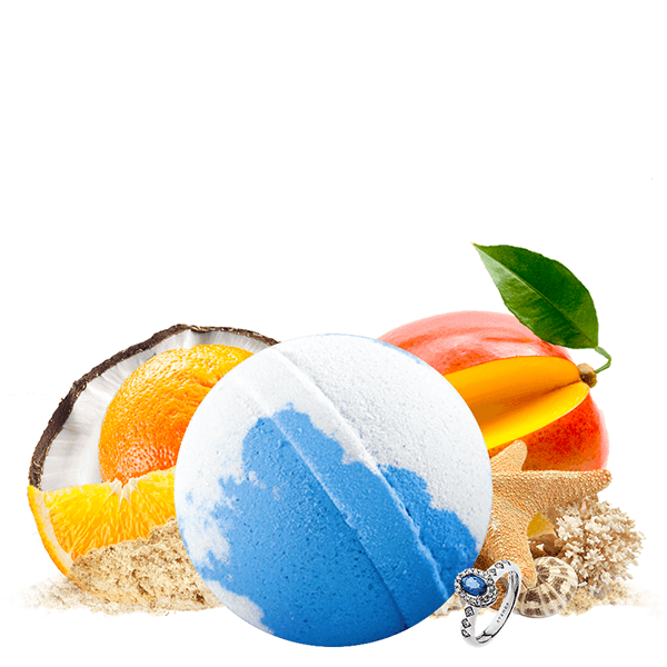 Coco Cabana Jewelry Bath Bomb - BathBombs.Com