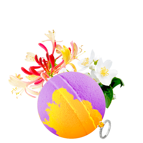 Honeysuckle Gardenia Jewelry Bath Bomb - BathBombs.Com