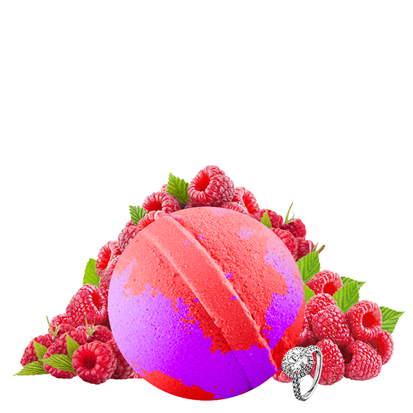 Rockin' Raspberry Jewelry Bath Bomb - BathBombs.Com