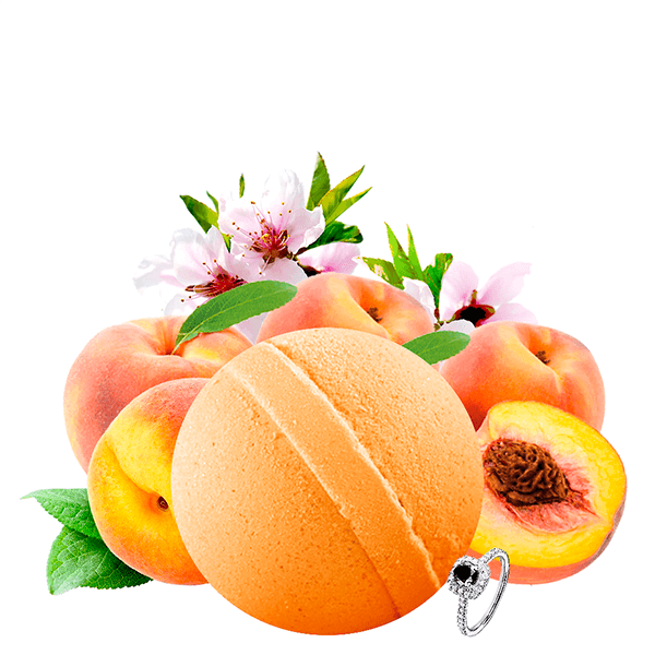 Just Peachy Jewelry Bath Bomb - BathBombs.Com