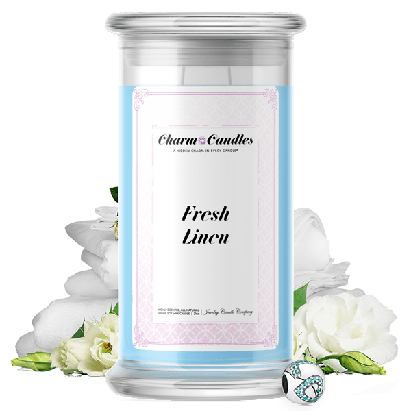Fresh Linen Charm Candle - BathBombs.Com