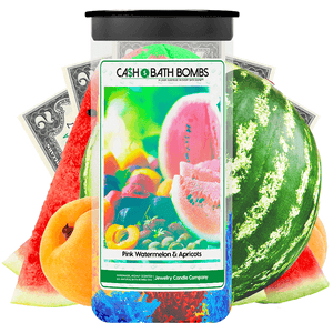 Pink Watermelon & Apricots Cash Bath Bombs Twin Pack - BathBombs.Com