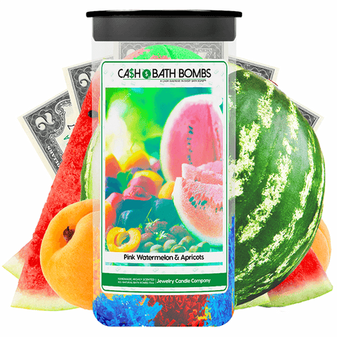 Pink Watermelon & Apricots Cash Bath Bombs Twin Pack