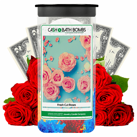 Fresh Cut Roses Cash Bath Bombs Twin Pack