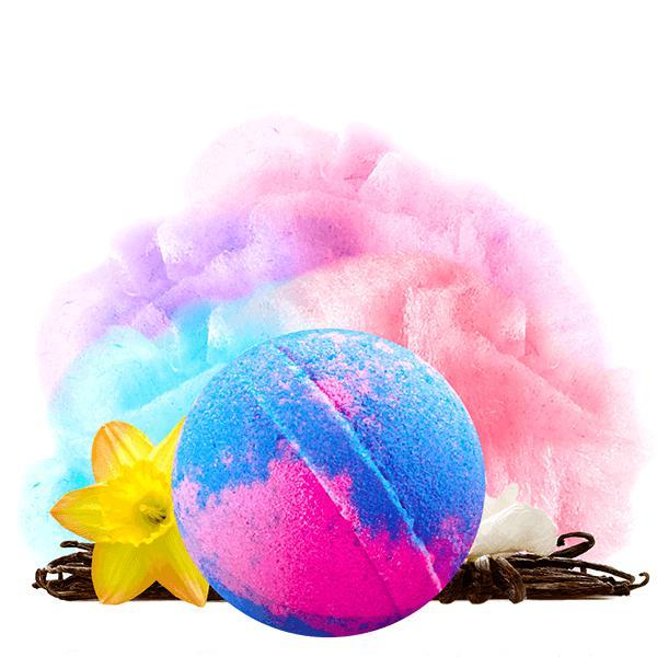 Carnival Cotton Candy Dollar Bomb - BathBombs.Com
