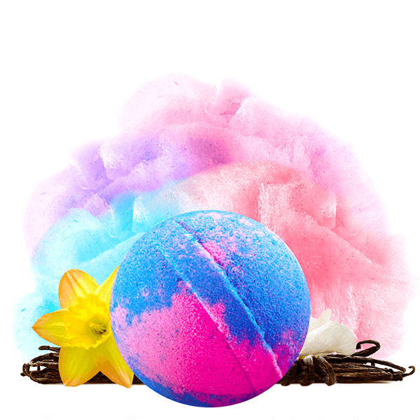 Carnival Cotton Candy Jumbo Bath Bomb - BathBombs.Com