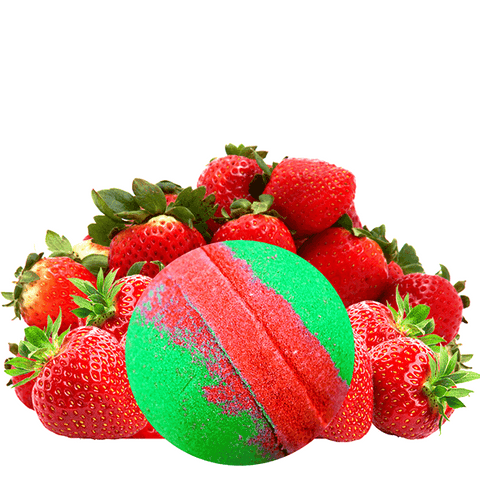 Strawberry Fields Dollar Bomb - BathBombs.Com