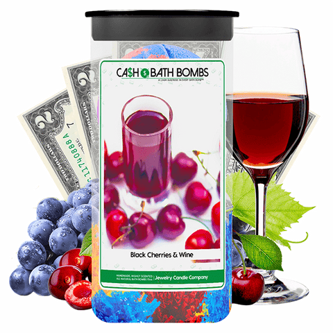 Black Cherries & Wine Cash Bath Bombs Twin Pack - BathBombs.Com