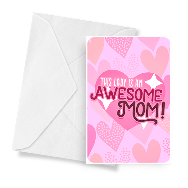 This Lady Is An Awesome Mom! Jewelry Greeting Card - BathBombs.Com