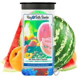 Pink Watermelon & Apricots Ring Bath Bombs Twin Pack - BathBombs.Com
