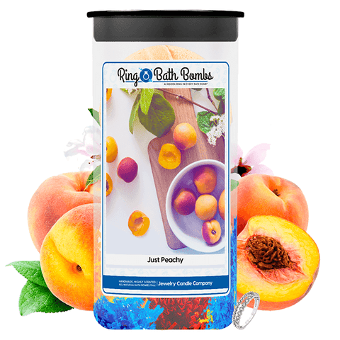 Just Peachy Ring Bath Bombs Twin Pack