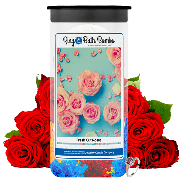 Fresh Cut Roses Ring Bath Bombs Twin Pack - BathBombs.Com