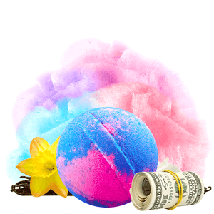 Carnival Cotton Candy Cash Bath Bomb - BathBombs.Com