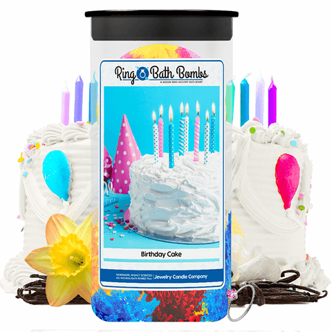 Birthday Cake Ring Bath Bombs Twin Pack - BathBombs.Com