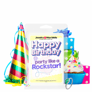 Happy Birthday Party like a Rockstar! Happy Birthday Jewelry Wax Melt - BathBombs.Com