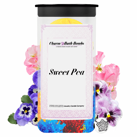 Sweet Pea Charm Bath Bombs Twin Pack